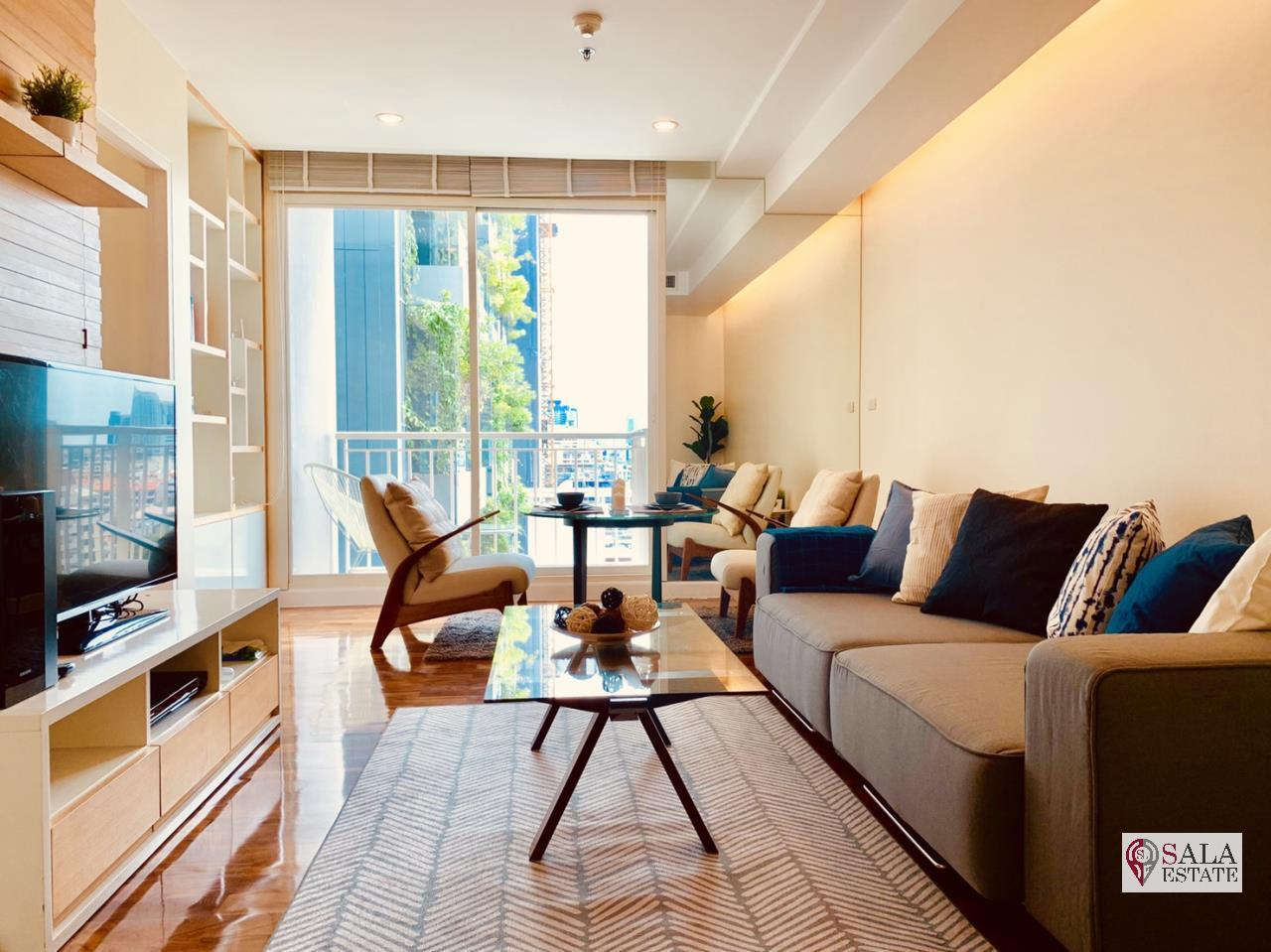 SALA ESTATE Agency's ( FOR RENT ) BAAN SIRI 31 – BTS PHROM PHONG, 58 SQM 1 BEDROOM 1 BATHROOM, FULLY FURNISHED, CITY VIEW 1