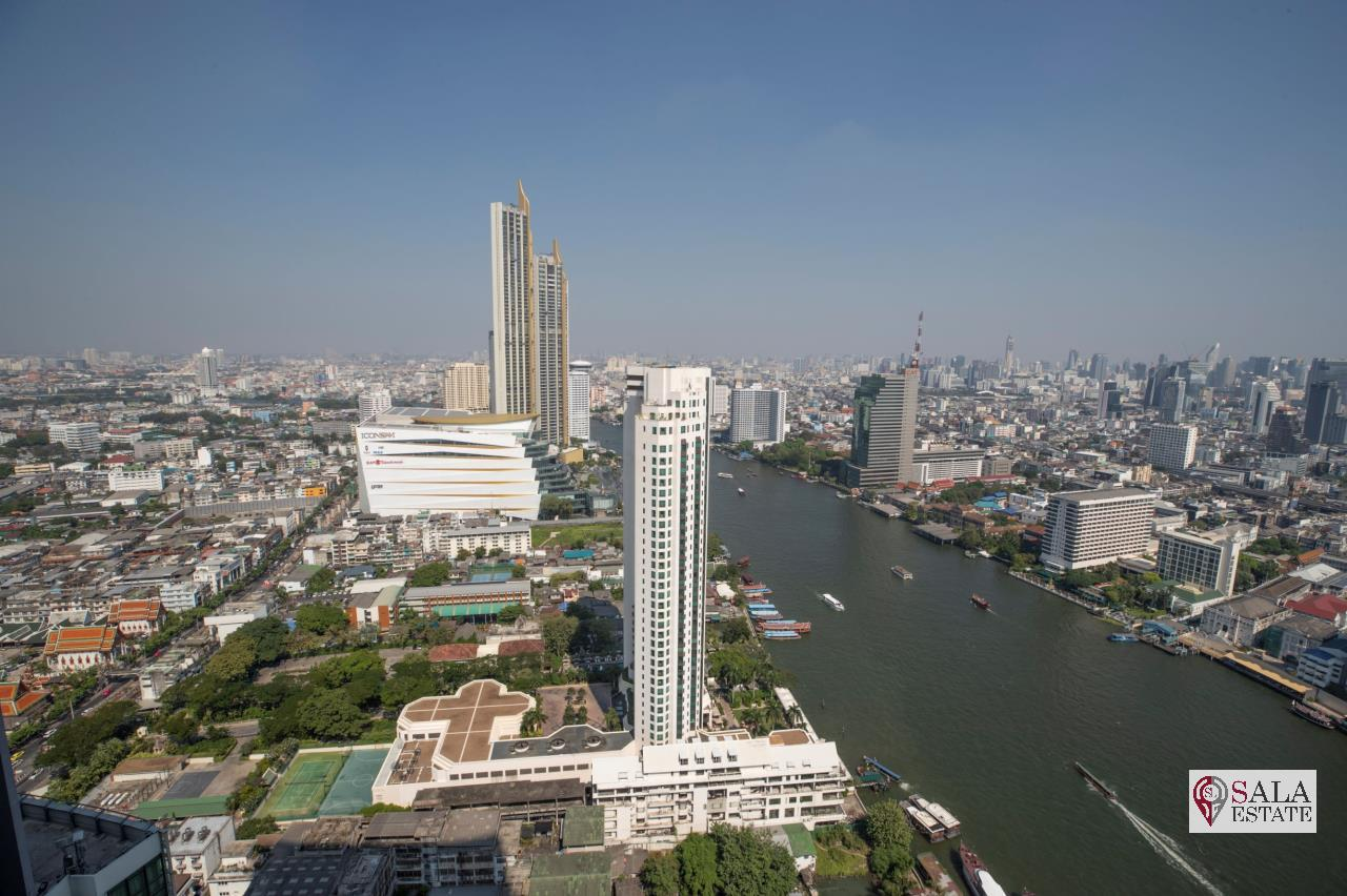 SALA ESTATE Agency's (FOR RENT) THE RIVER – RIVERSIDE,ICONSIAM,豪华公寓,河景房, 2卧2卫, 家具齐全 5