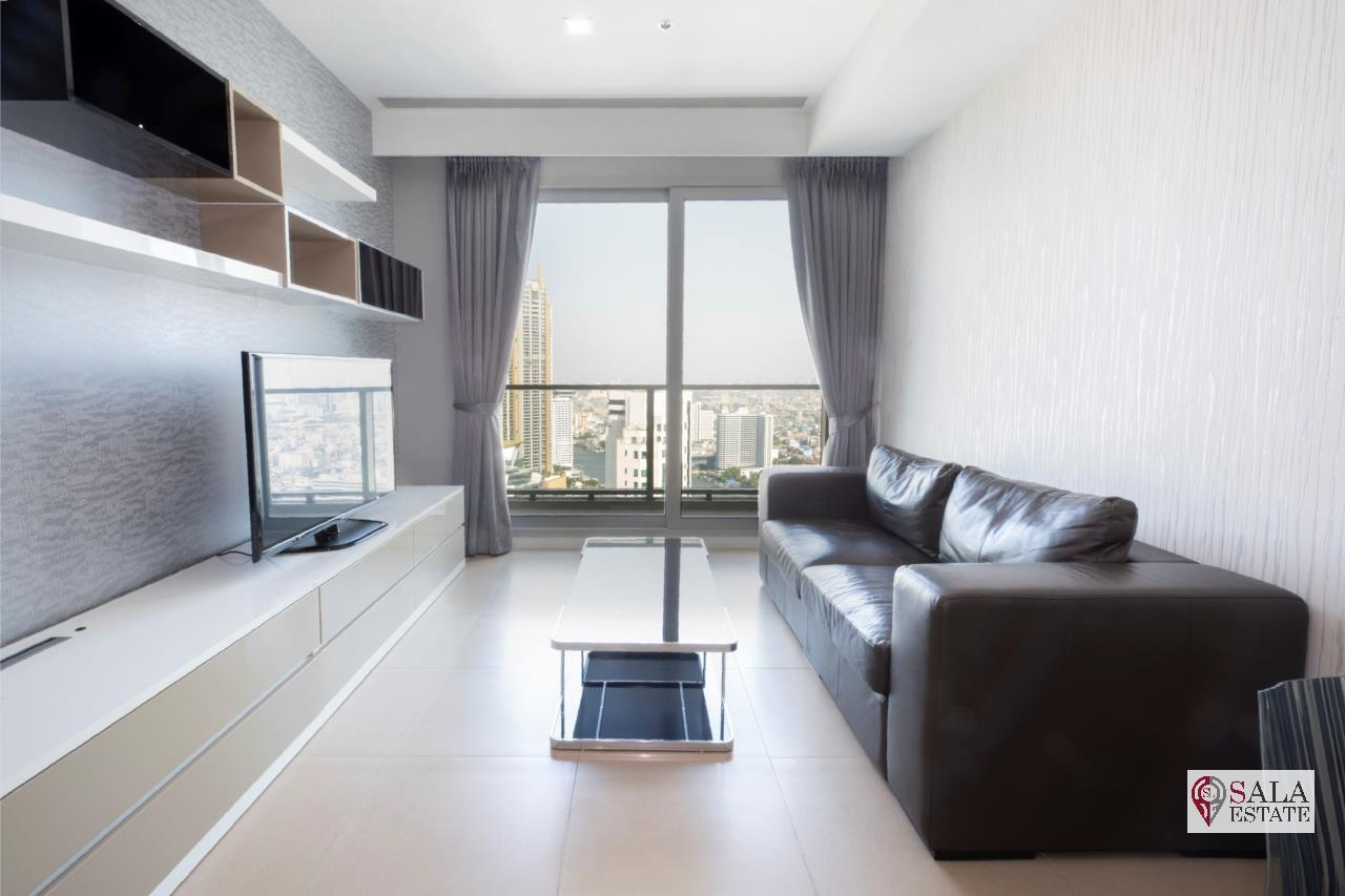 SALA ESTATE Agency's (FOR RENT) THE RIVER – RIVERSIDE,ICONSIAM,豪华公寓,河景房, 2卧2卫, 家具齐全 1