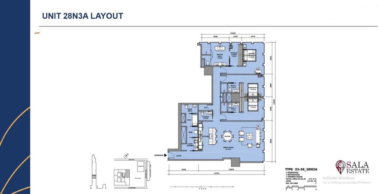 SALA ESTATE Agency's BRAND NEW!!!! ULTRA LUXURY  THE RITZ-CARLTON RESIDENCES – BANGKOK'S TALLEST BUILDING - NEAR BTS CHONG NONSI,3 BEDROOMS 3 BATHROOMS 215SQM. 2