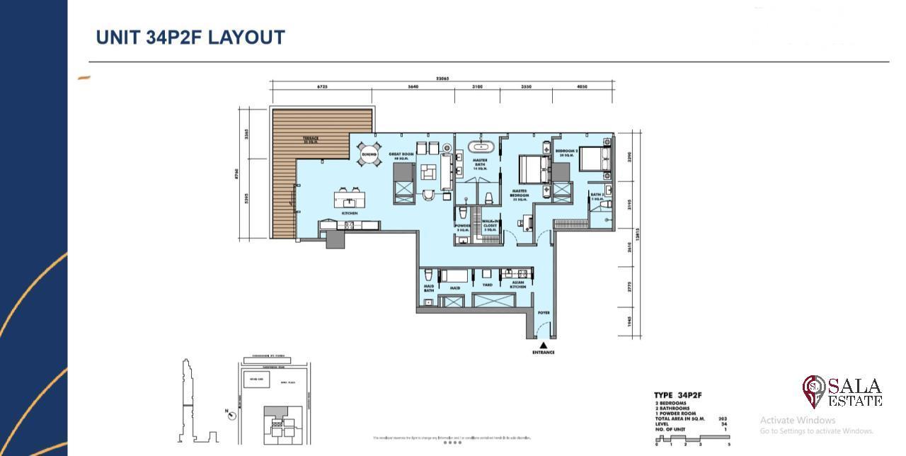 SALA ESTATE Agency's BRAND NEW!!!! ULTRA LUXURY THE RITZ-CARLTON RESIDENCES – BANGKOK'S TALLEST BUILDING - NEAR BTS CHONG NONSI,2 BEDROOMS 2 BATHROOMS 203 SQM. 2
