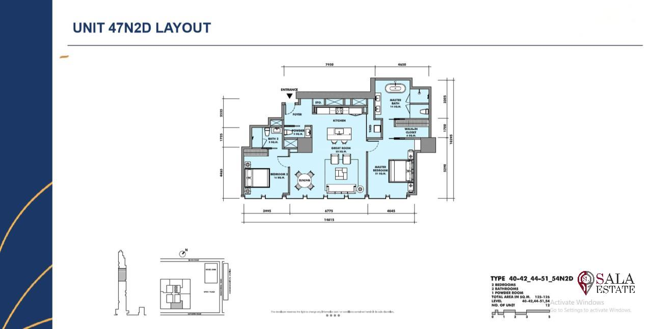 SALA ESTATE Agency's BRAND NEW!!!! ULTRA LUXURY THE RITZ-CARLTON RESIDENCES – BANGKOK'S TALLEST BUILDING - NEAR BTS CHONG NONSI,2 BEDROOMS 2 BATHROOMS 125 SQM. 2