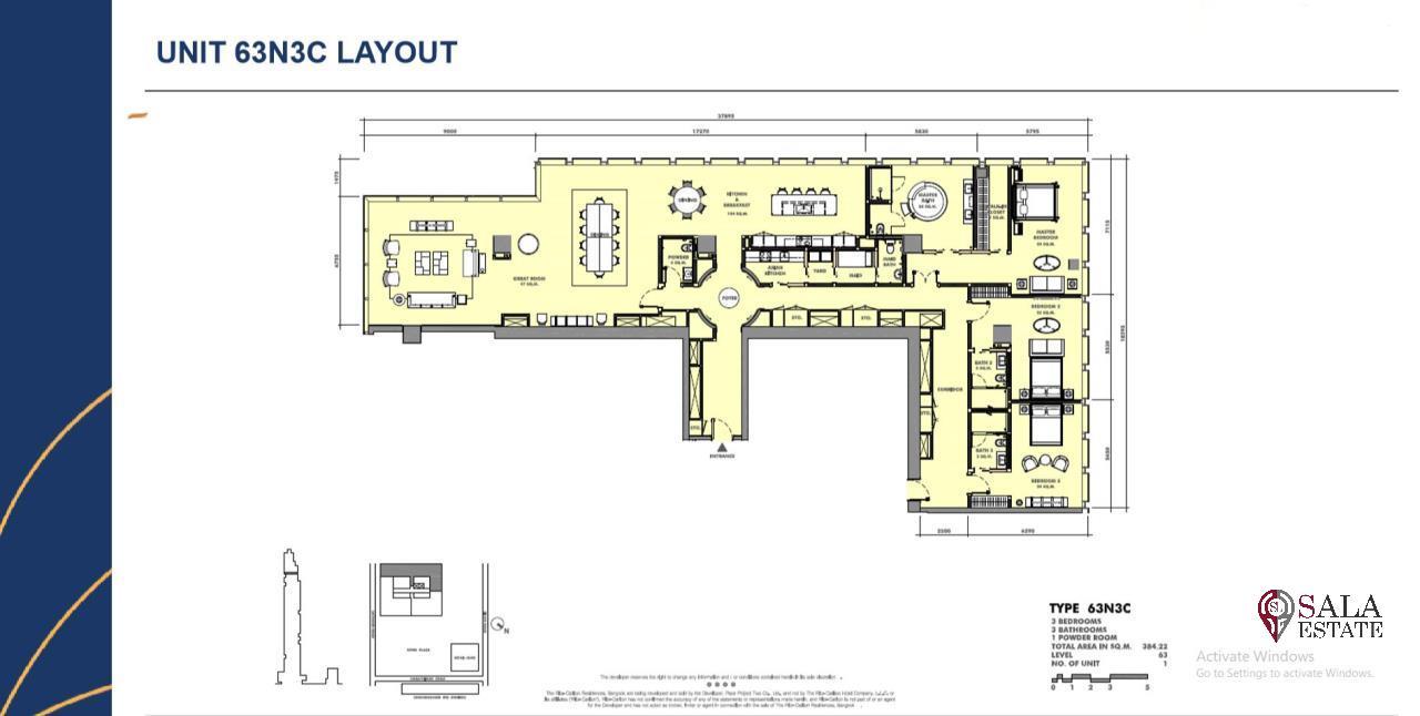 SALA ESTATE Agency's BRAND NEW!!!! ULTRA LUXURY THE RITZ-CARLTON RESIDENCES – BANGKOK'S TALLEST BUILDING - NEAR BTS CHONG NONSI,3 BEDROOMS 3 BATHROOMS 384 SQM. 11