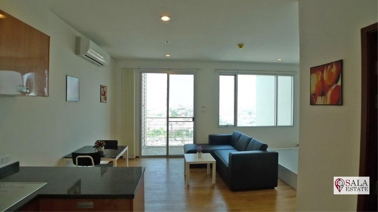 SALA ESTATE Agency's VILLA SATHORN – BTS KRUNG THONBURI,STUDIO TYPE, 1 Bedroom 1 Bathroom, Fully furnished, City View 3