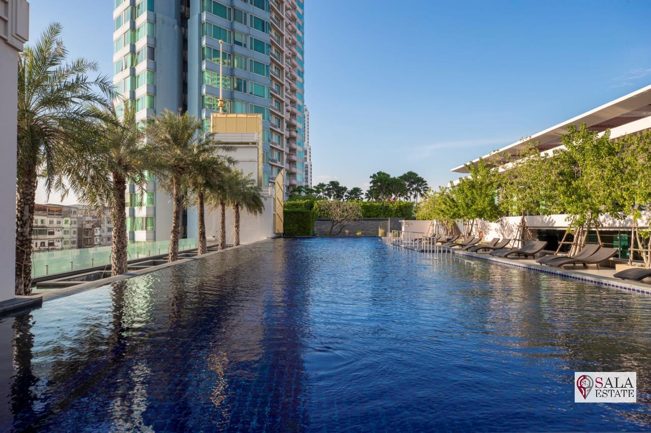 SALA ESTATE Agency's (FOR SALE) WATERMARK CHAOPHRAYA RIVER – RIVERSIDE - NEAR ICON SIAM, 145.94 SQM 3 BEDROOMS 3 BATHROOMS, RIVER VIEW, HIGH FLOOR 15