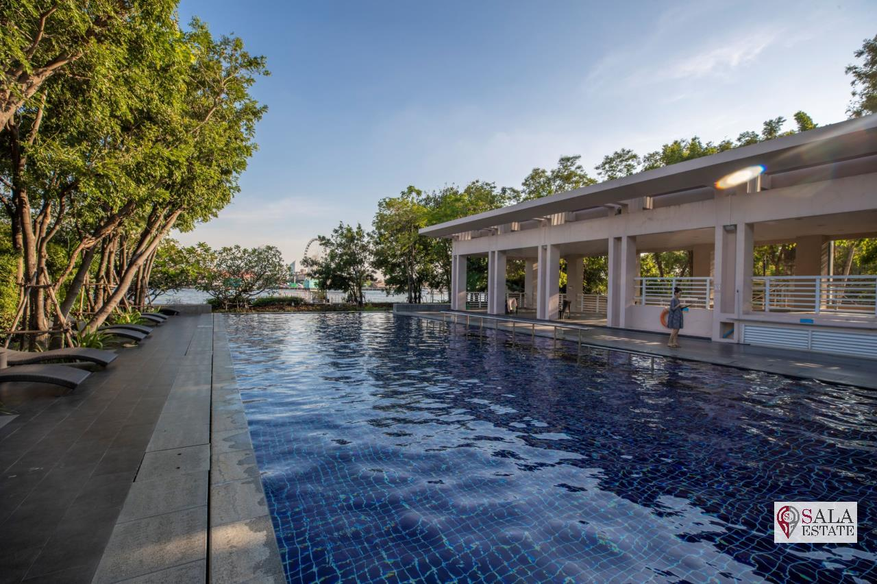 SALA ESTATE Agency's (FOR SALE) WATERMARK CHAOPHRAYA RIVER – RIVERSIDE - NEAR ICON SIAM, 145.94 SQM 3 BEDROOMS 3 BATHROOMS, RIVER VIEW, HIGH FLOOR 16