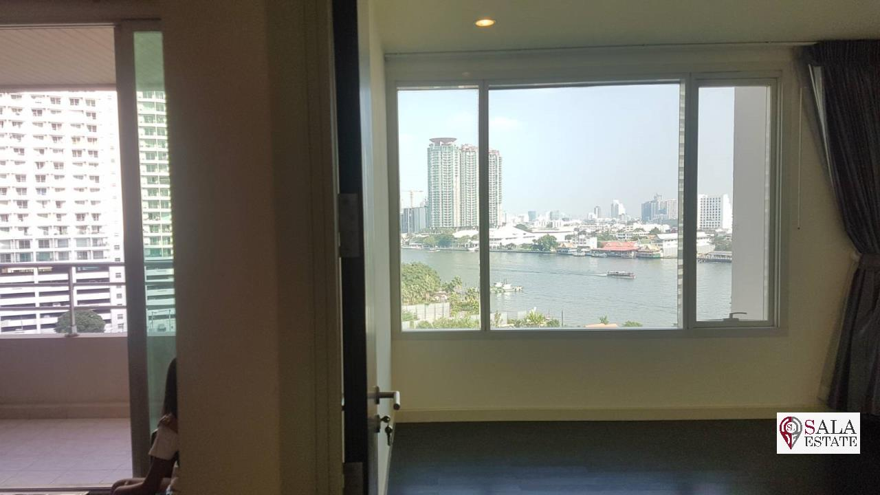 SALA ESTATE Agency's (FOR SALE) WATERMARK CHAOPHRAYA RIVER – RIVERSIDE-NEAR ICON SIAM, 102.16 SQM 2 BEDROOMS 2 BATHROOMS, RIVER VIEW, LOW FLOOR 4