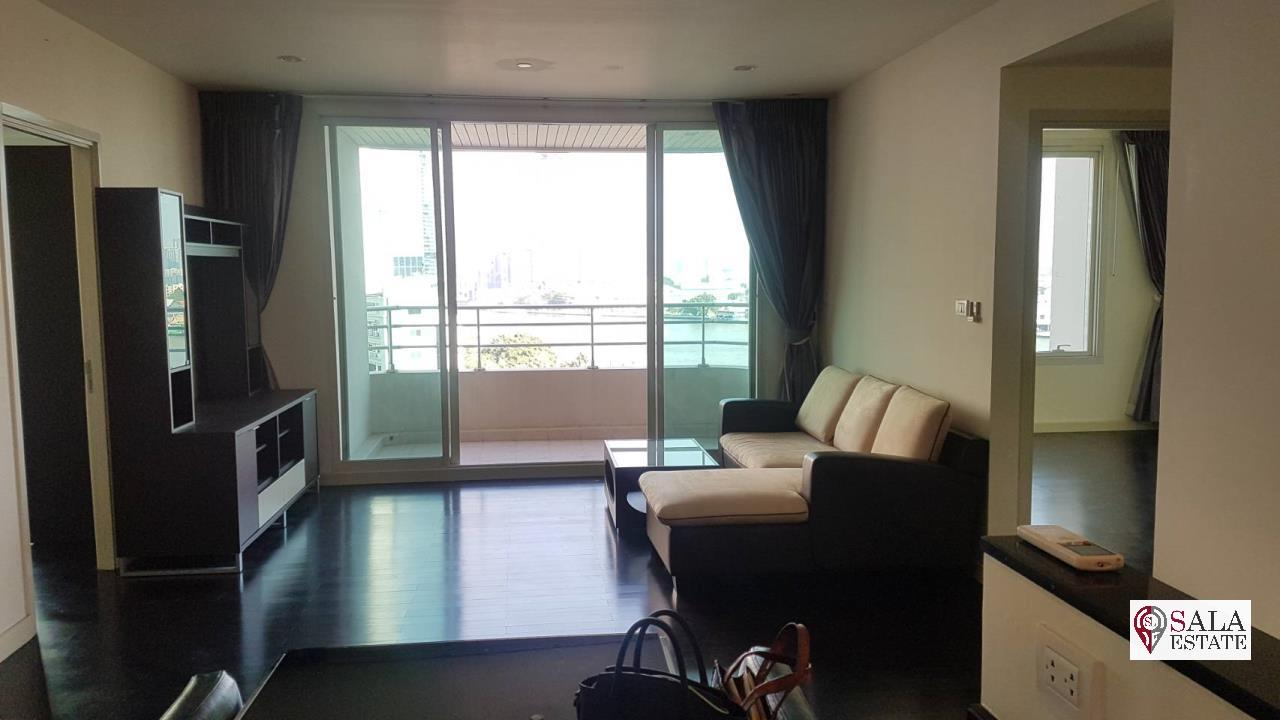 SALA ESTATE Agency's (FOR SALE) WATERMARK CHAOPHRAYA RIVER – RIVERSIDE-NEAR ICON SIAM, 102.16 SQM 2 BEDROOMS 2 BATHROOMS, RIVER VIEW, LOW FLOOR 2