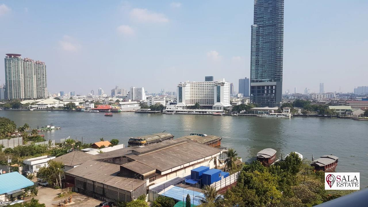 SALA ESTATE Agency's (FOR SALE) WATERMARK CHAOPHRAYA RIVER – RIVERSIDE-NEAR ICON SIAM, 102.16 SQM 2 BEDROOMS 2 BATHROOMS, RIVER VIEW, LOW FLOOR 5