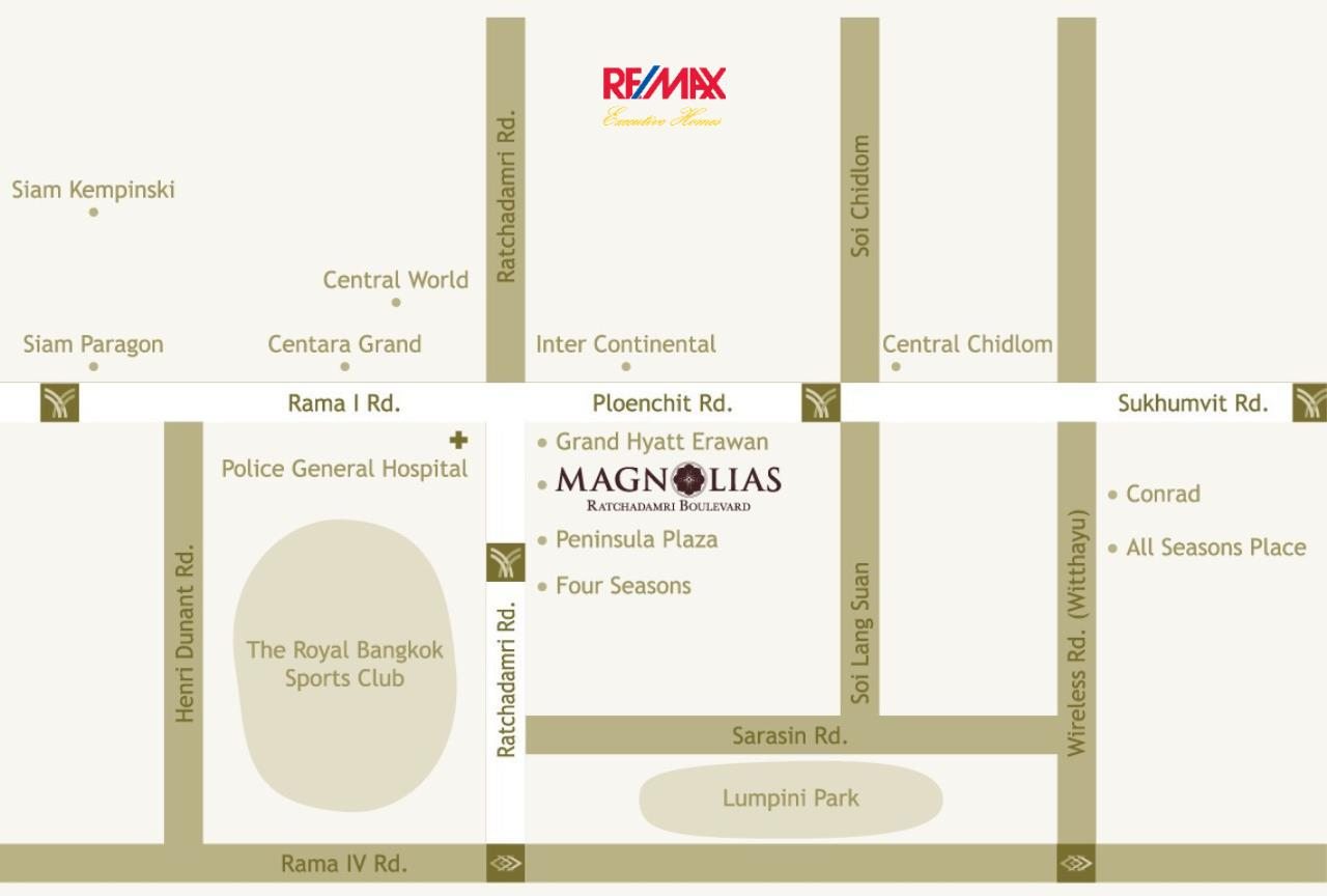 RE/MAX Executive Homes Agency's Brand New 2 Bedroom for Sale Magnolias Ratchadamri Boulevard 3
