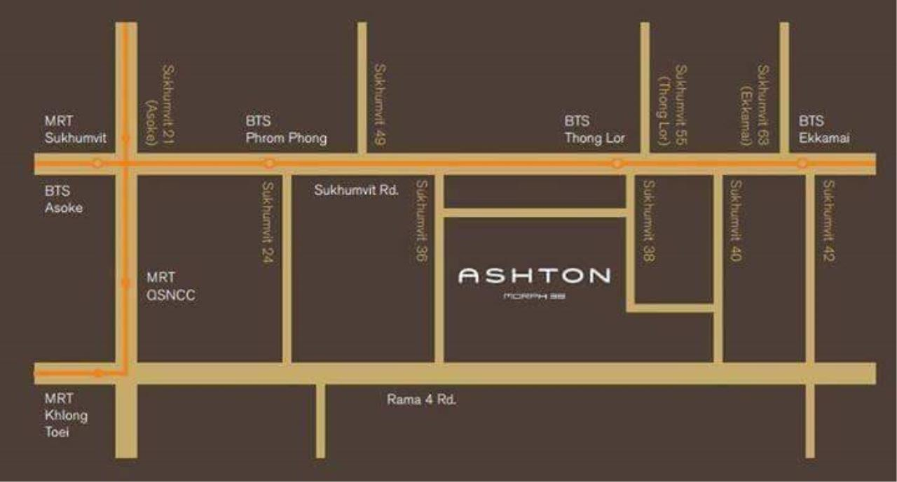 Quality Life Property Agency's S A L E !! [ ASHTON MORPH 38] 1Br 52.5 Sq.m. High Floor NICE VIEW !! 14