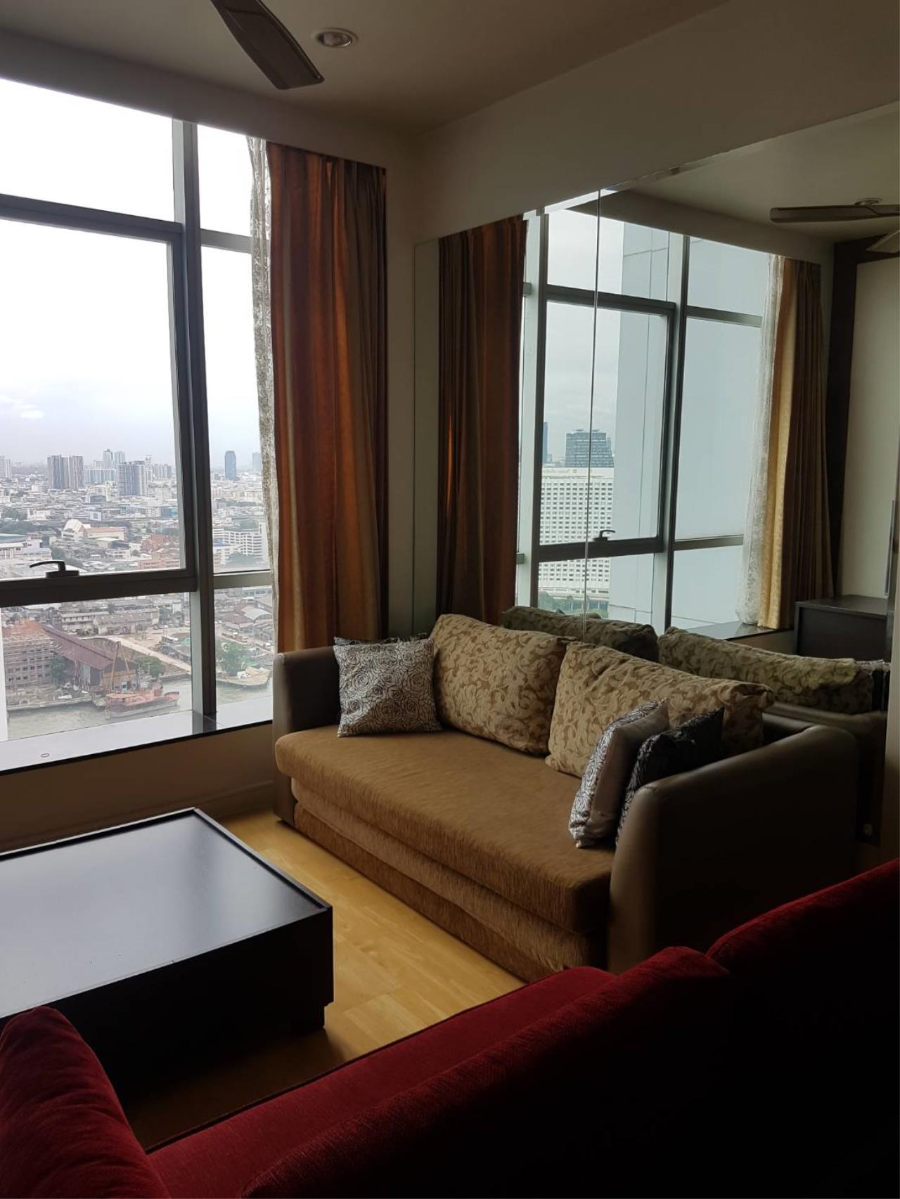 Quality Life Property Agency's For Rent Condo Baan Chao Praya Sathorn 1 Bedroom 1 Bath High Floor Top View 1