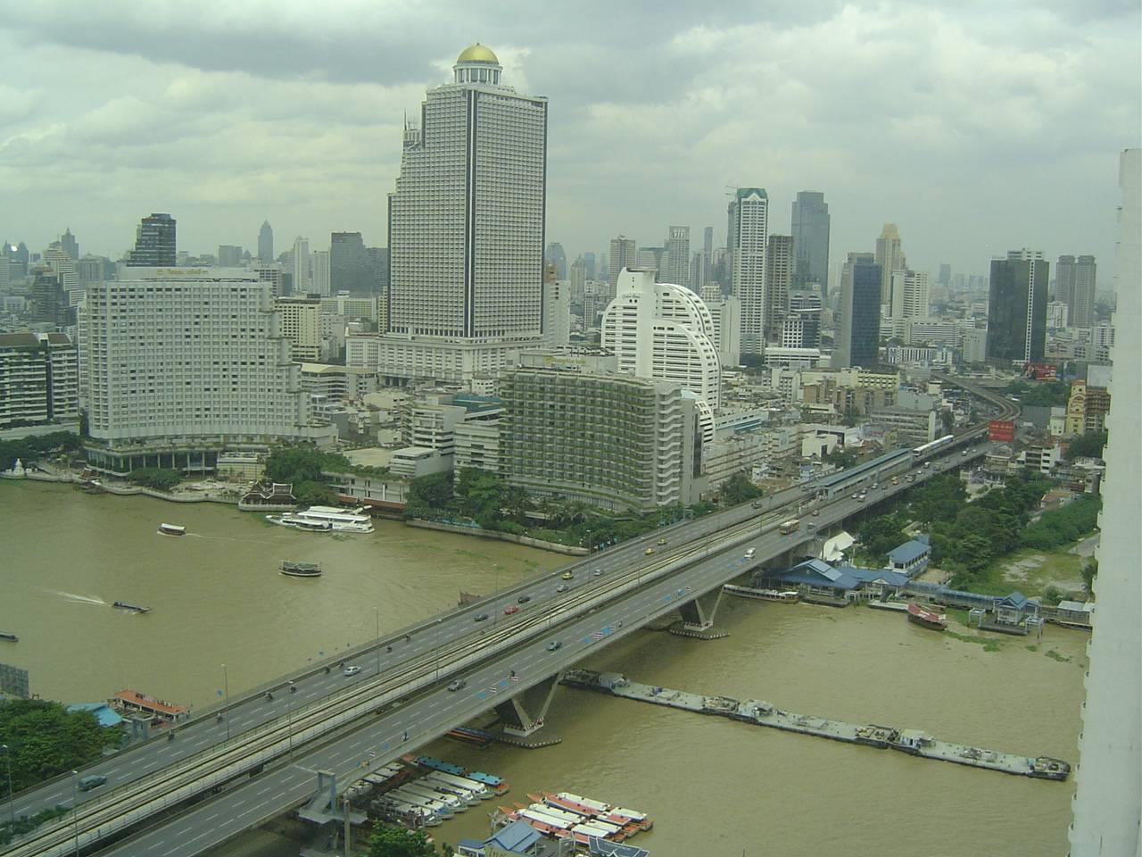 Quality Life Property Agency's For Rent Condo Baan Chao Praya Sathorn 1 Bedroom 1 Bath High Floor Top View 8