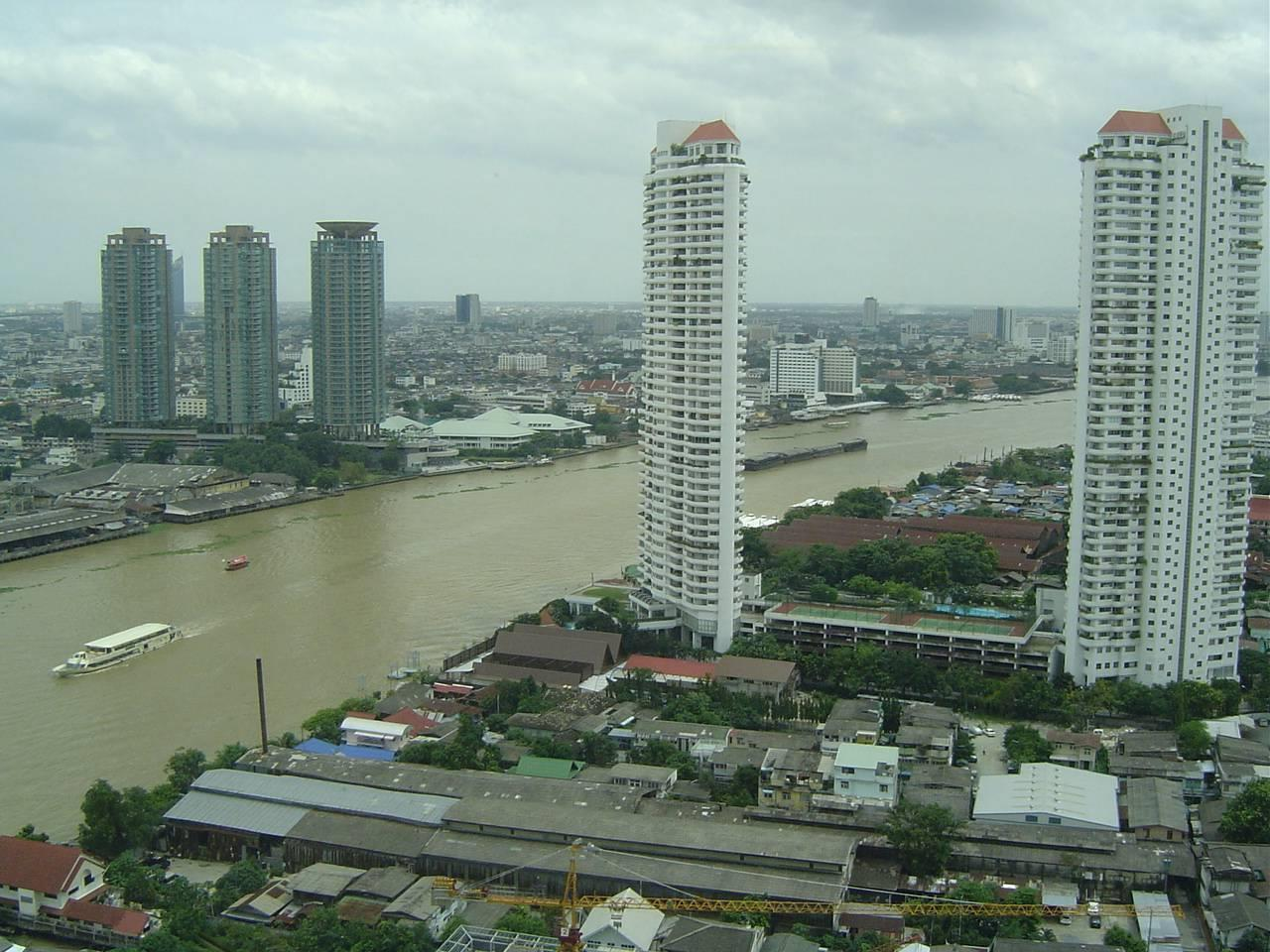 Quality Life Property Agency's For Rent Condo Baan Chao Praya Sathorn 1 Bedroom 1 Bath High Floor Top View 9