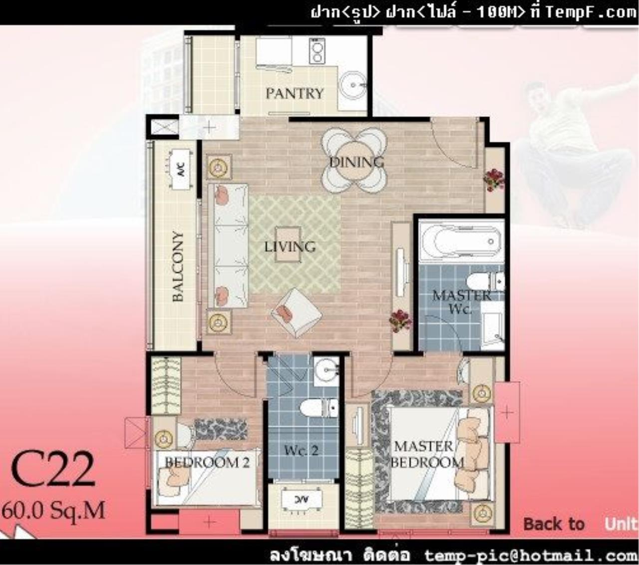 Quality Life Property Agency's For Rent!!! Life@Sukhumvit  / 2 Badroom / 25 Floor 3